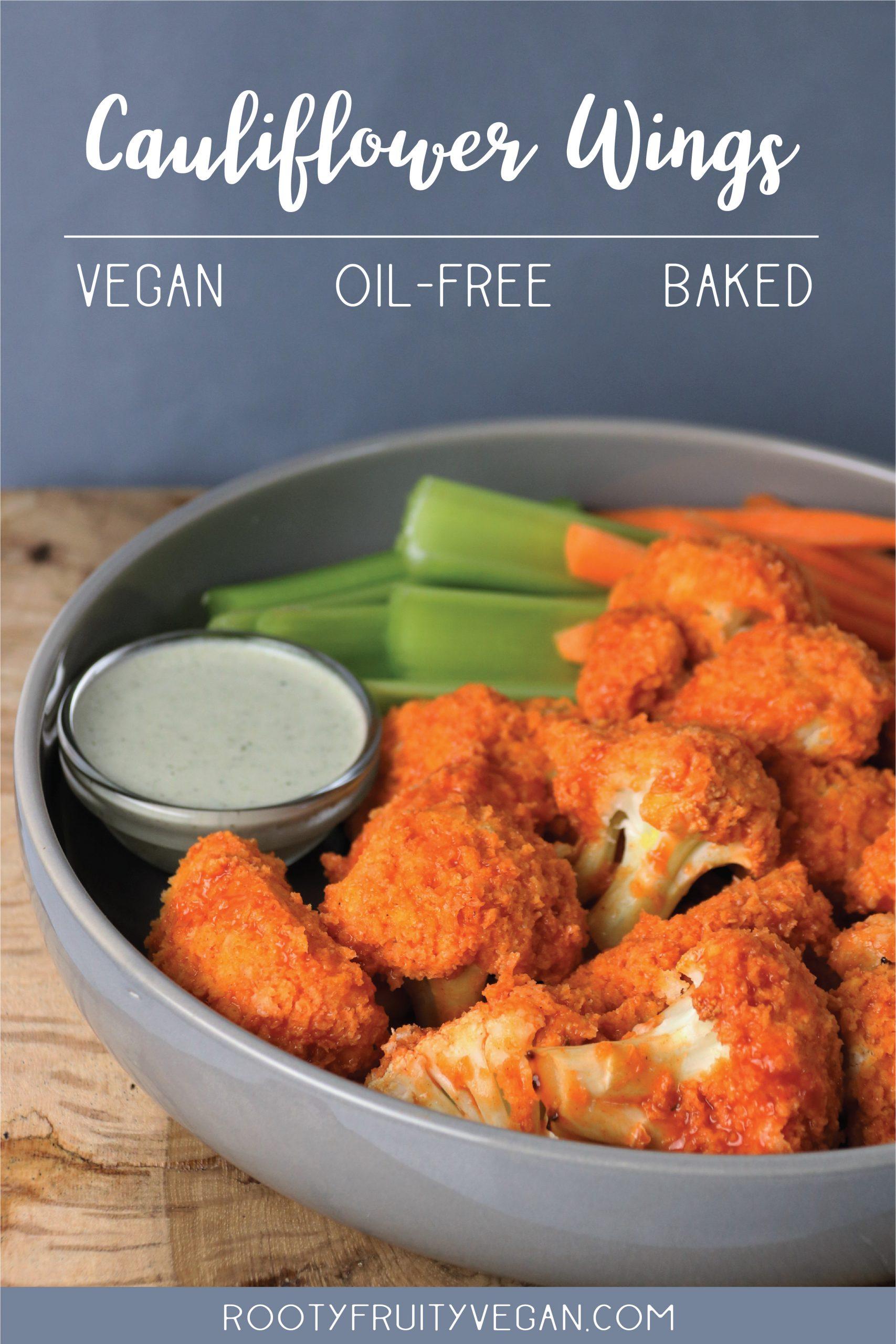 Vegan baked wings