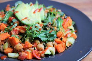 vegan sweet potato breakfast hash