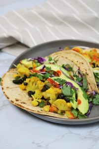 Vegan Cauliflower Black Bean Tacos