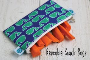 reusable zip baggies to reduce plastic