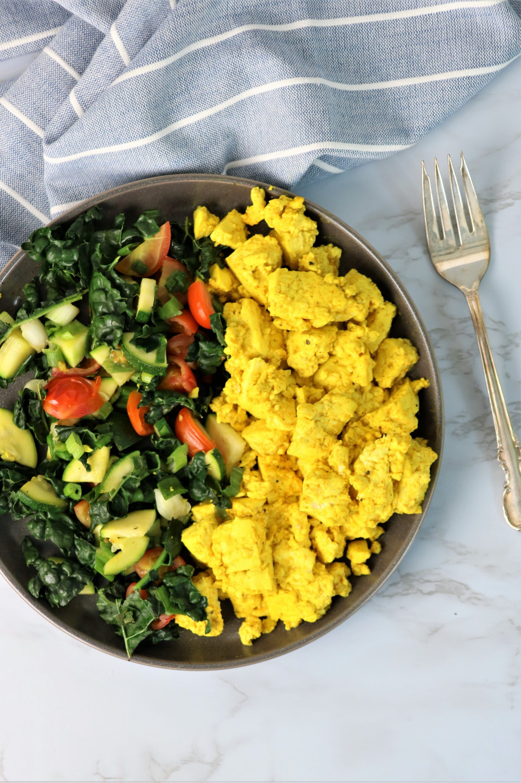 easy vegan tofu scramble