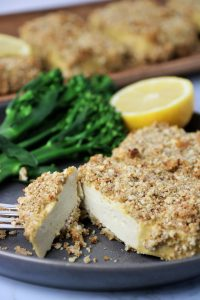 almond crusted lemon pepper tofu