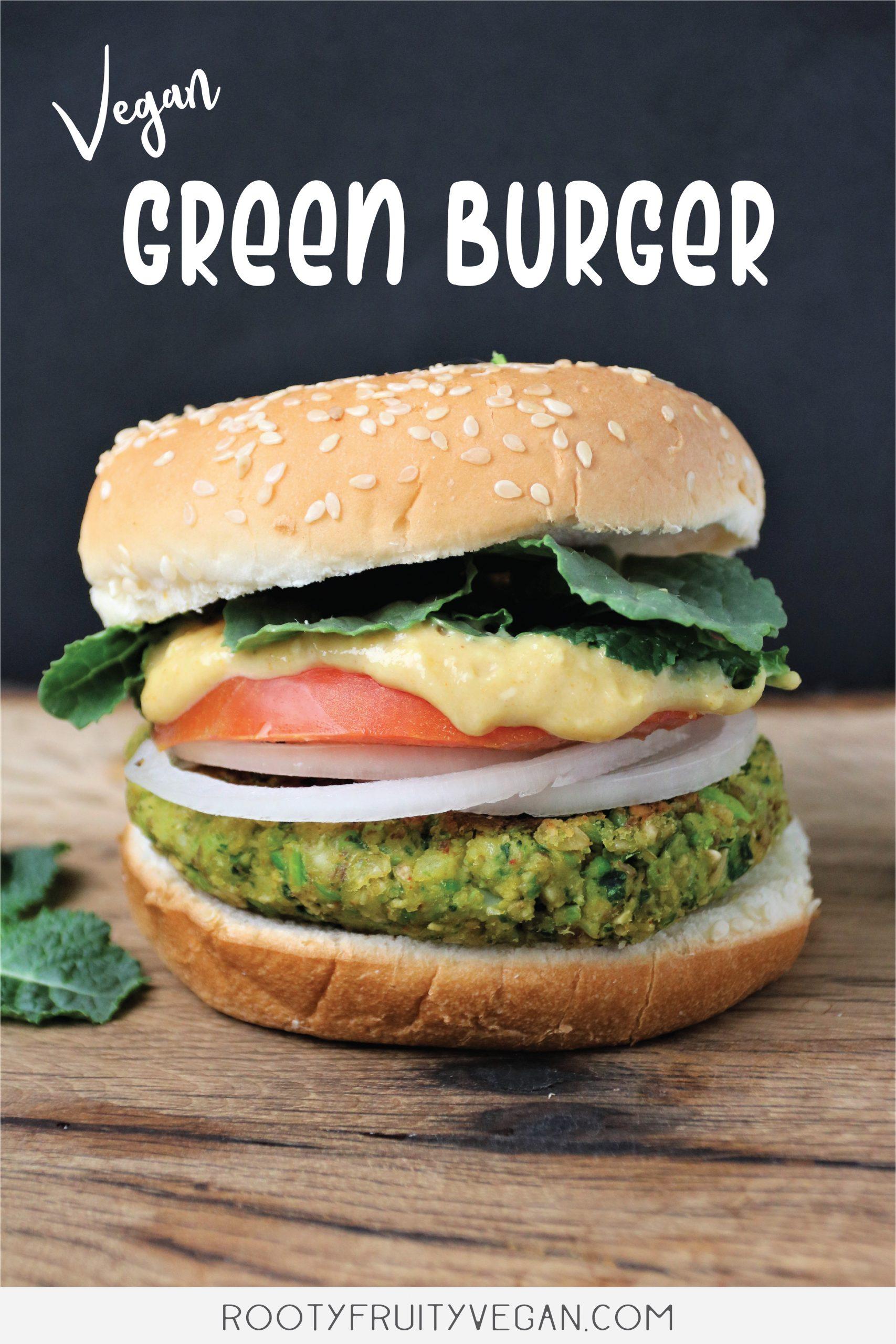 vegan green burger