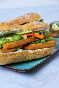Tofu Banh Mi Sandwich Vegan