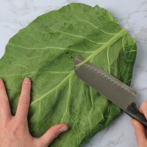 how to make collard tortilla