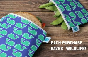 reusable sandwich and snack bags by Make Waves