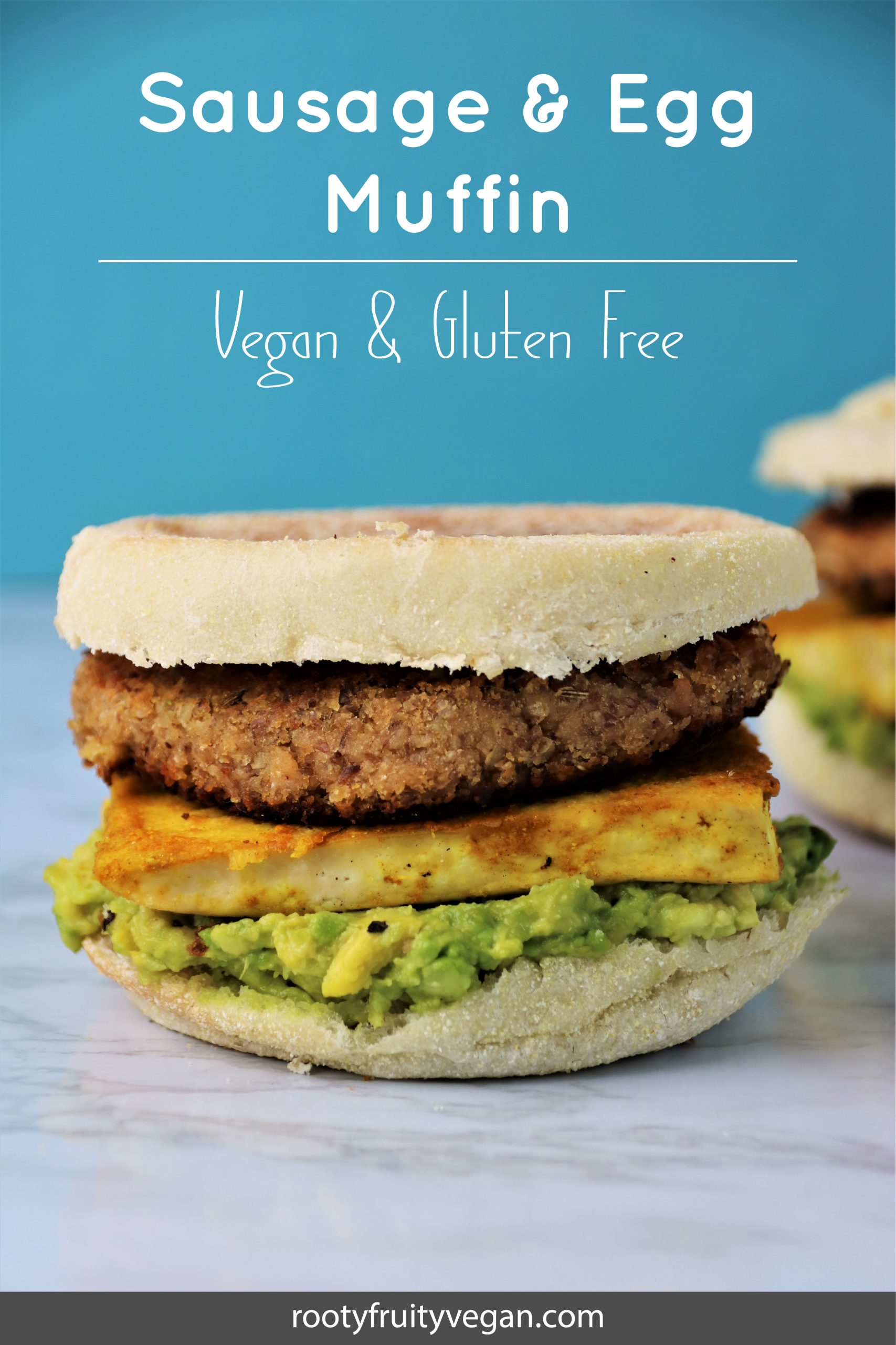 vegan sausage and egg breakfast muffin