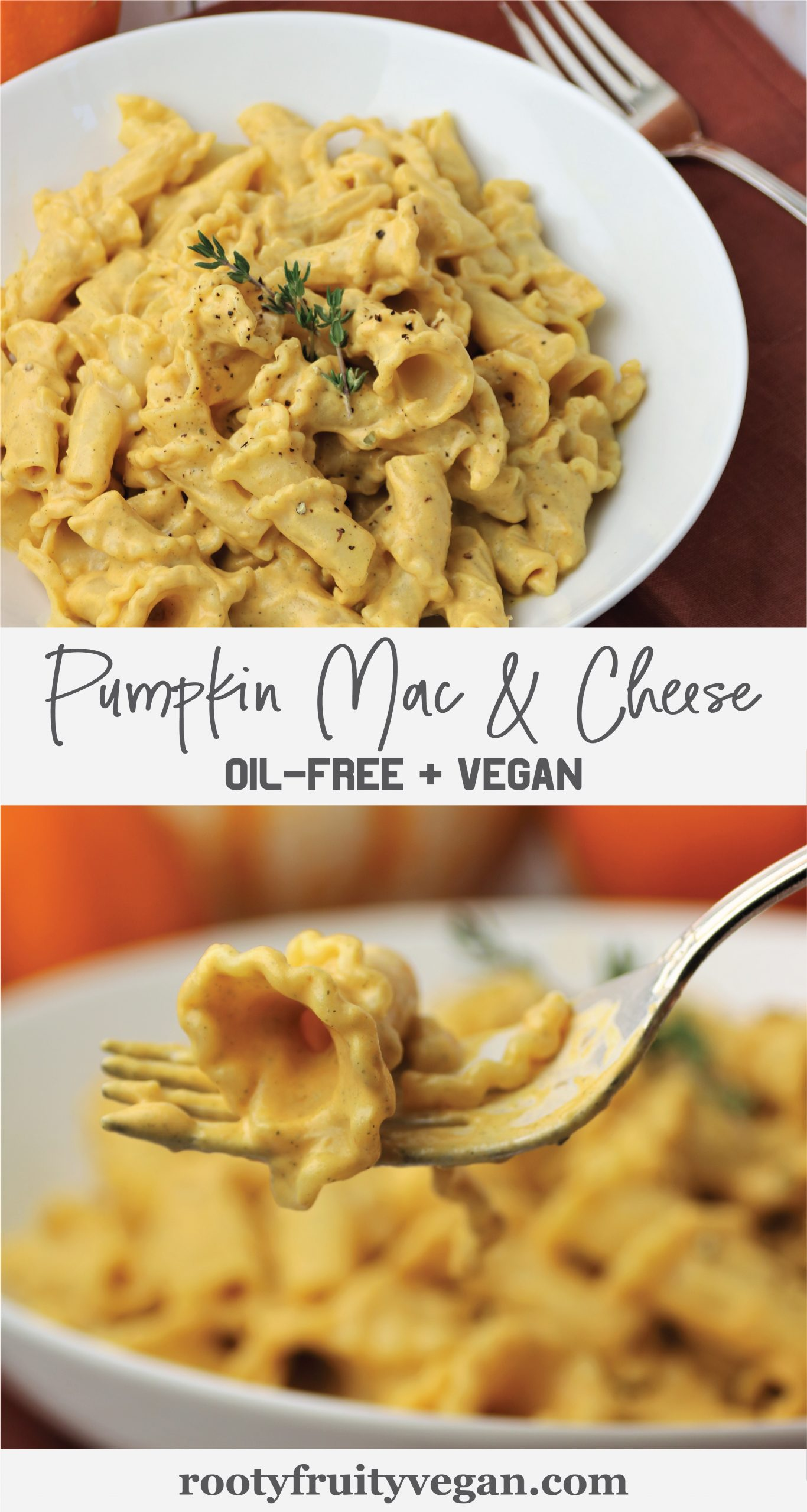 vegan pumpkin mac and cheese pasta recipe