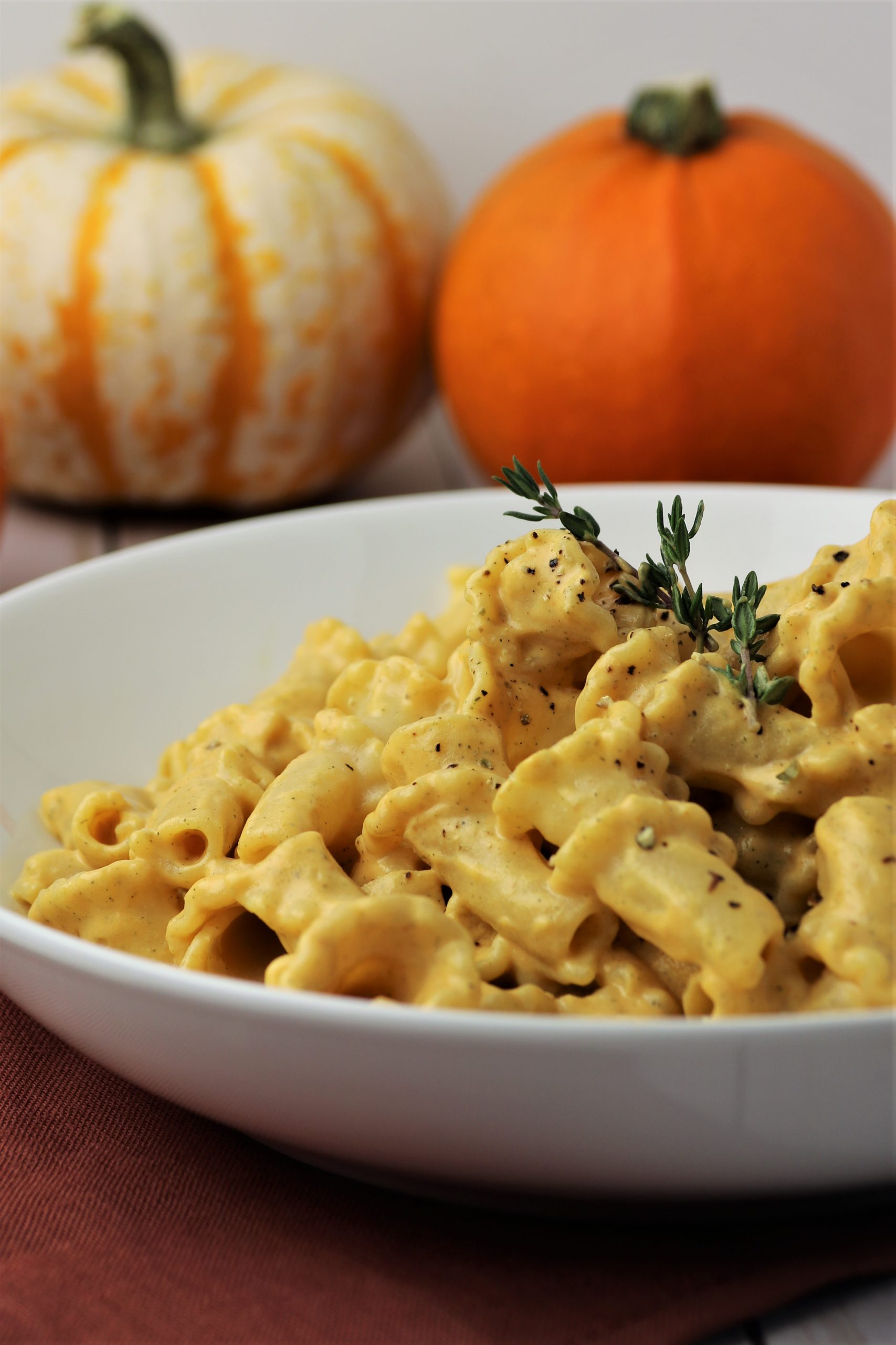 easy vegan pumpkin pasta