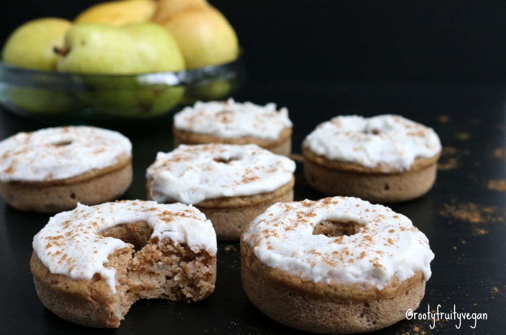 Spiced Pear Donuts