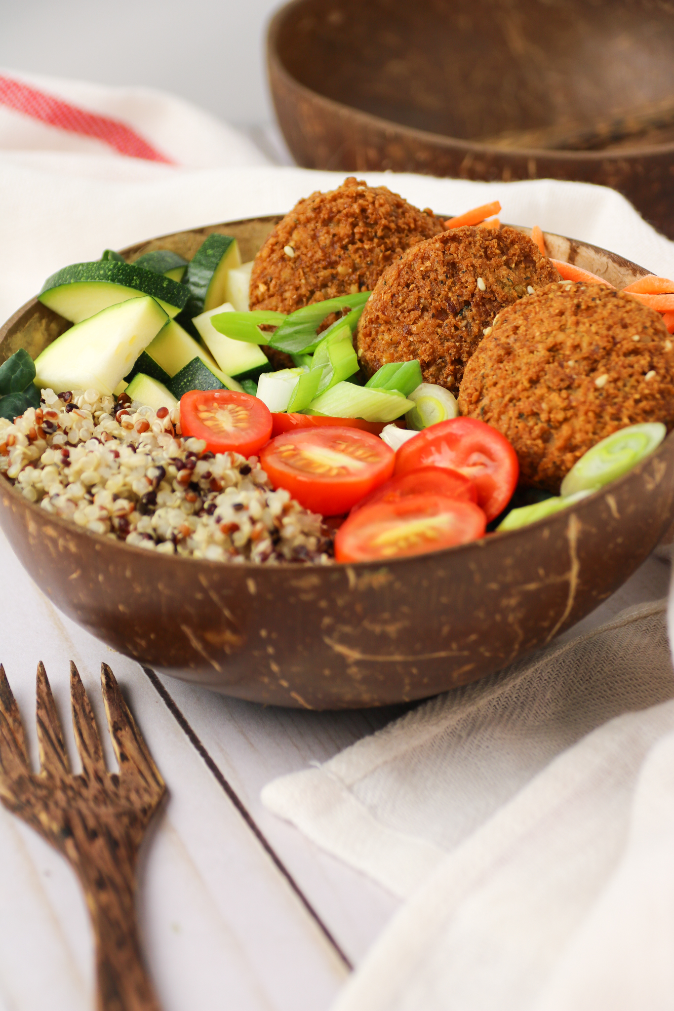 healthy vegan wfpb falafel bowl