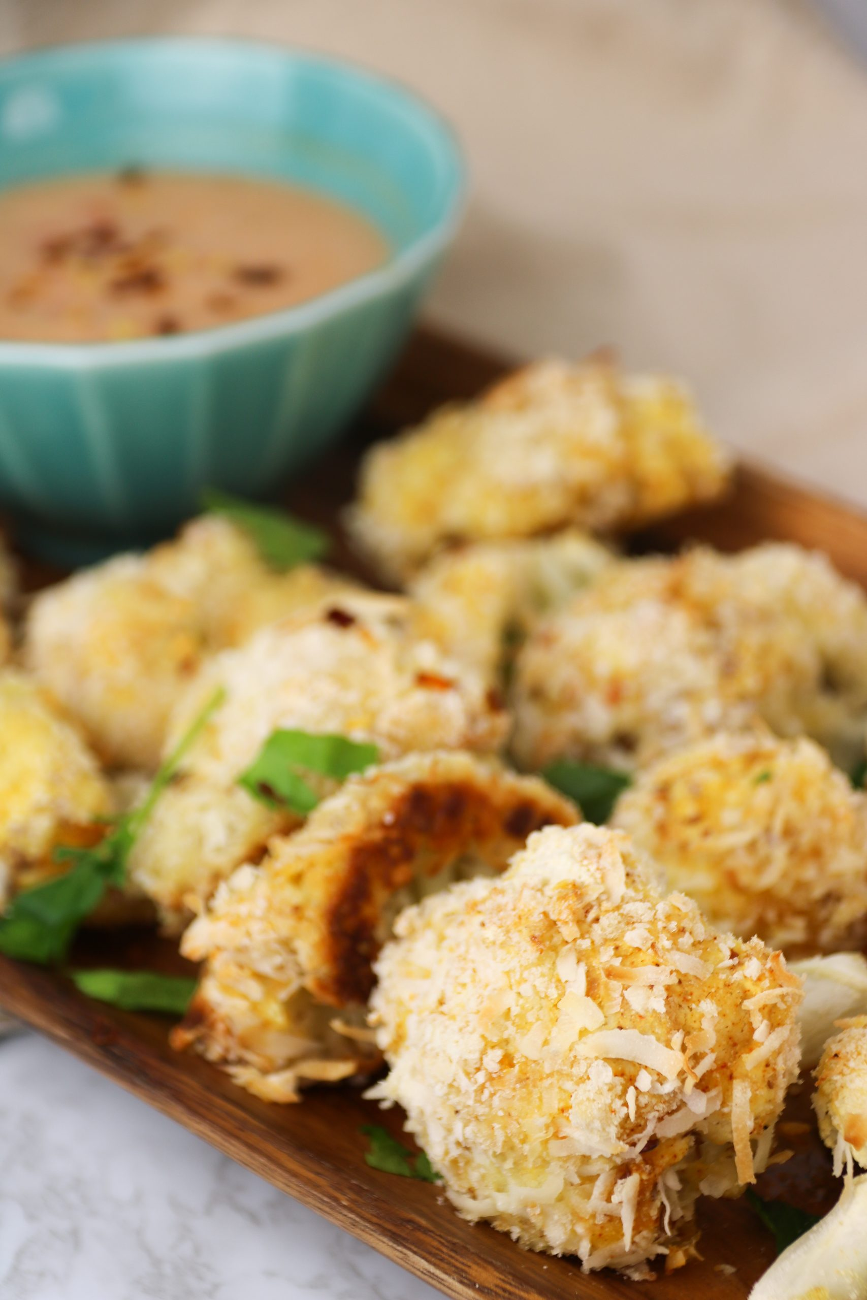 vegan coconut shrimp cauliflower