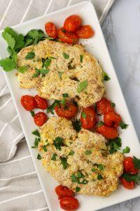 vegan plant based parmesan roasted cauliflower recipe