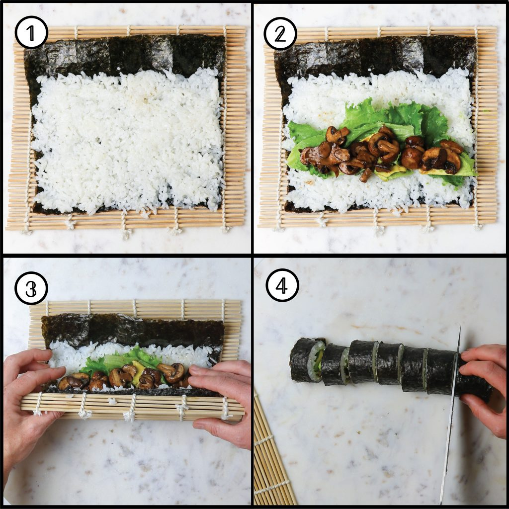 how to roll sushi step guide