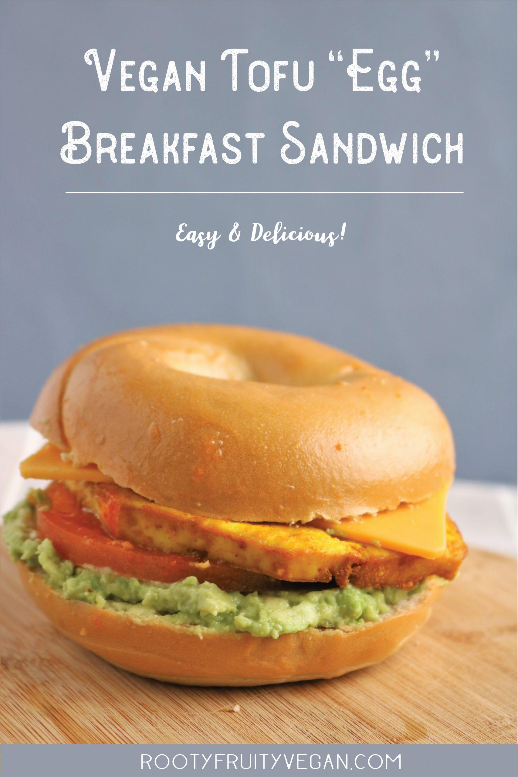 Vegan breakfast egg sandwich