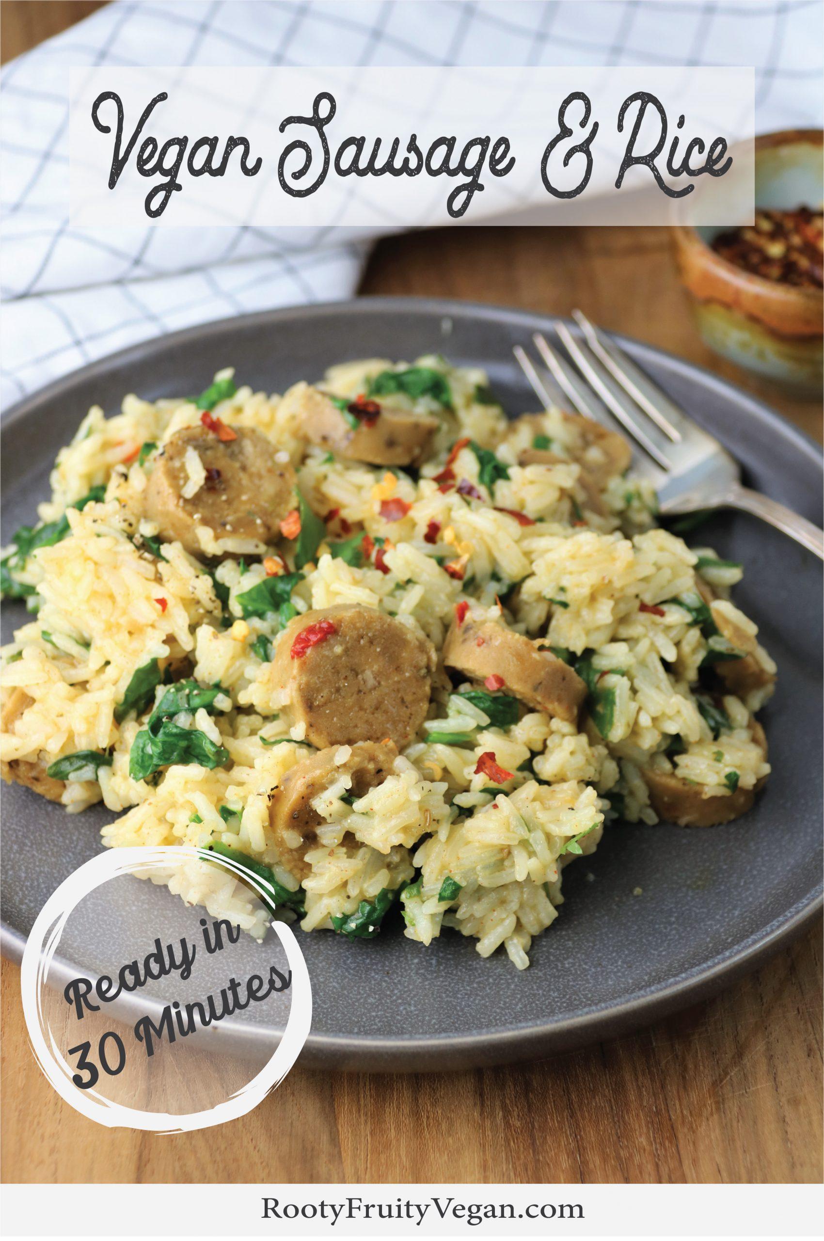 Vegan sausage and rice recipe