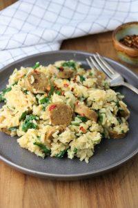 Vegan Sausage and Rice
