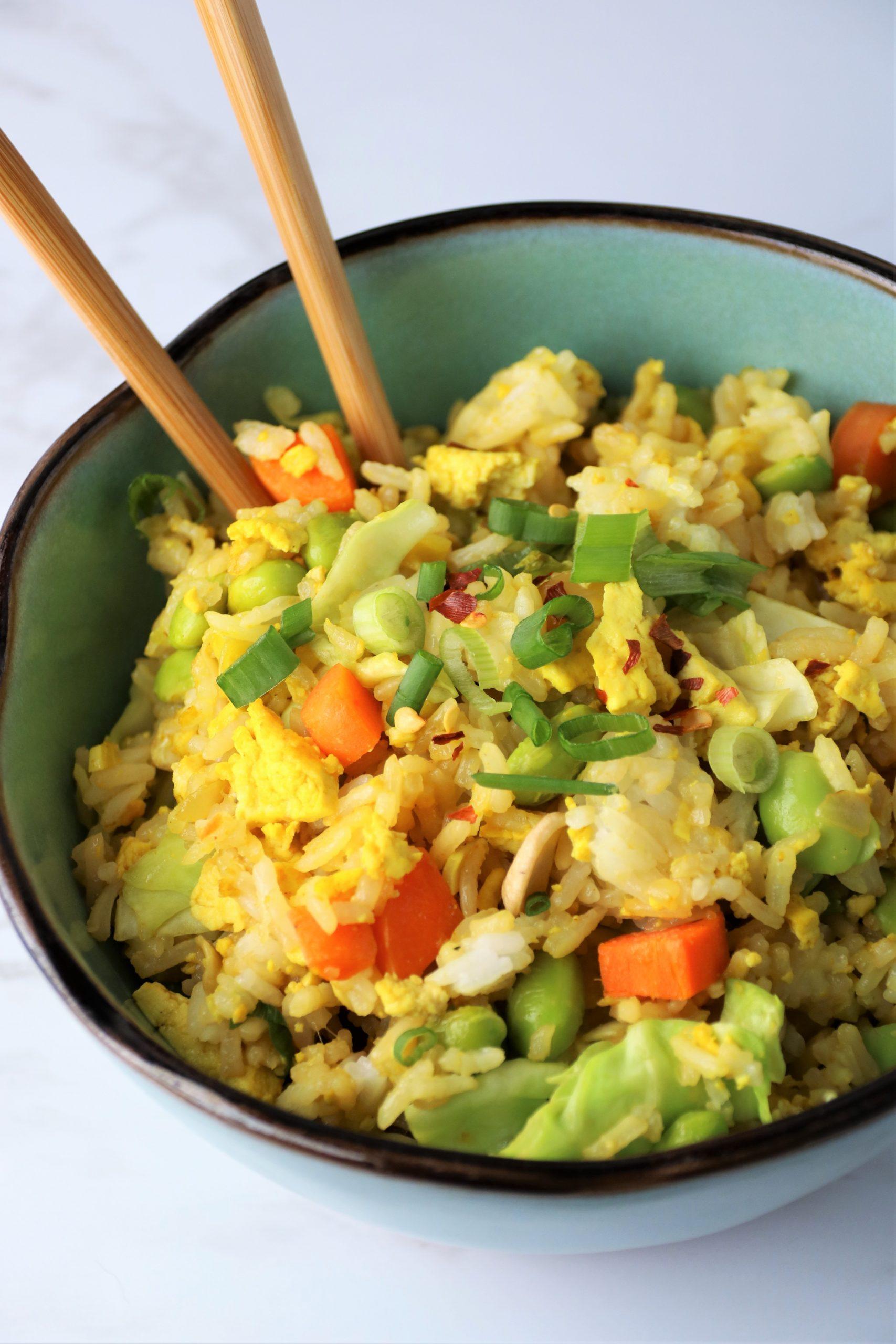 vegan egg fried rice