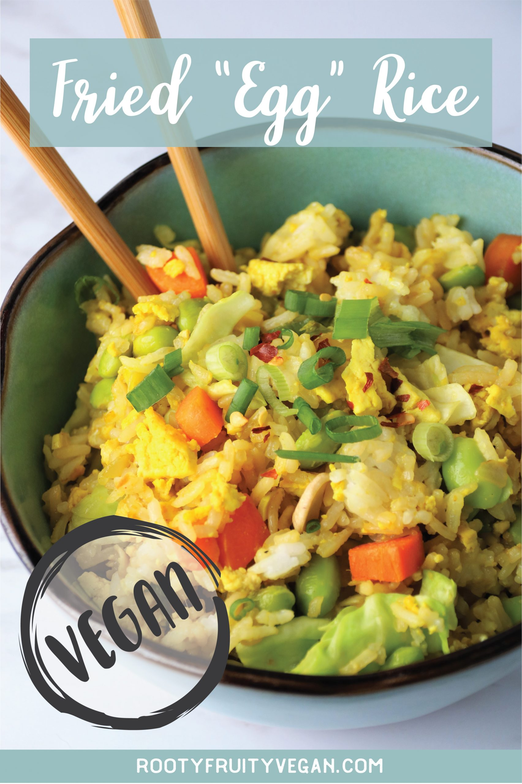 fried rice with vegan egg