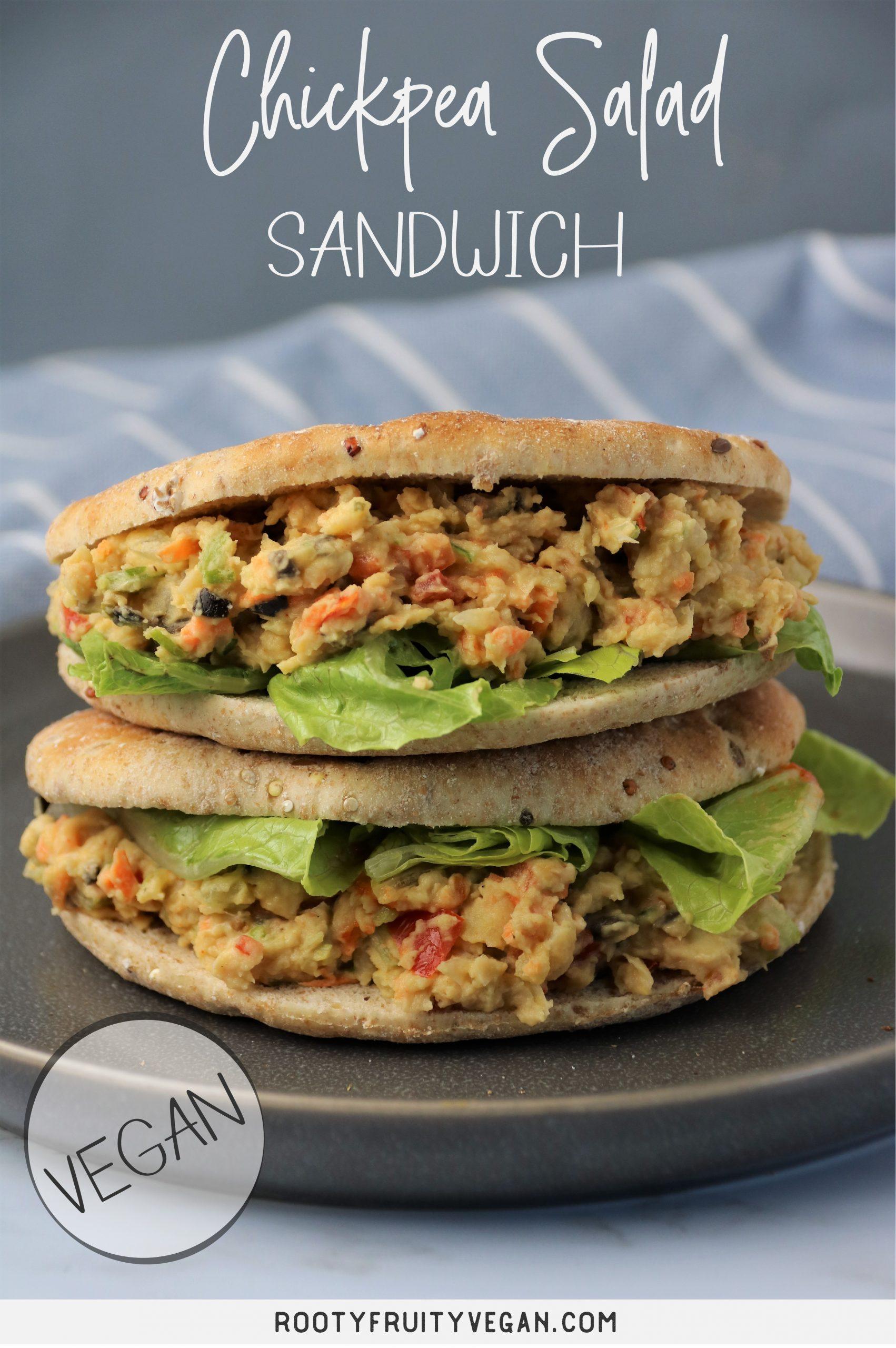 vegan chickenless salad sandwich
