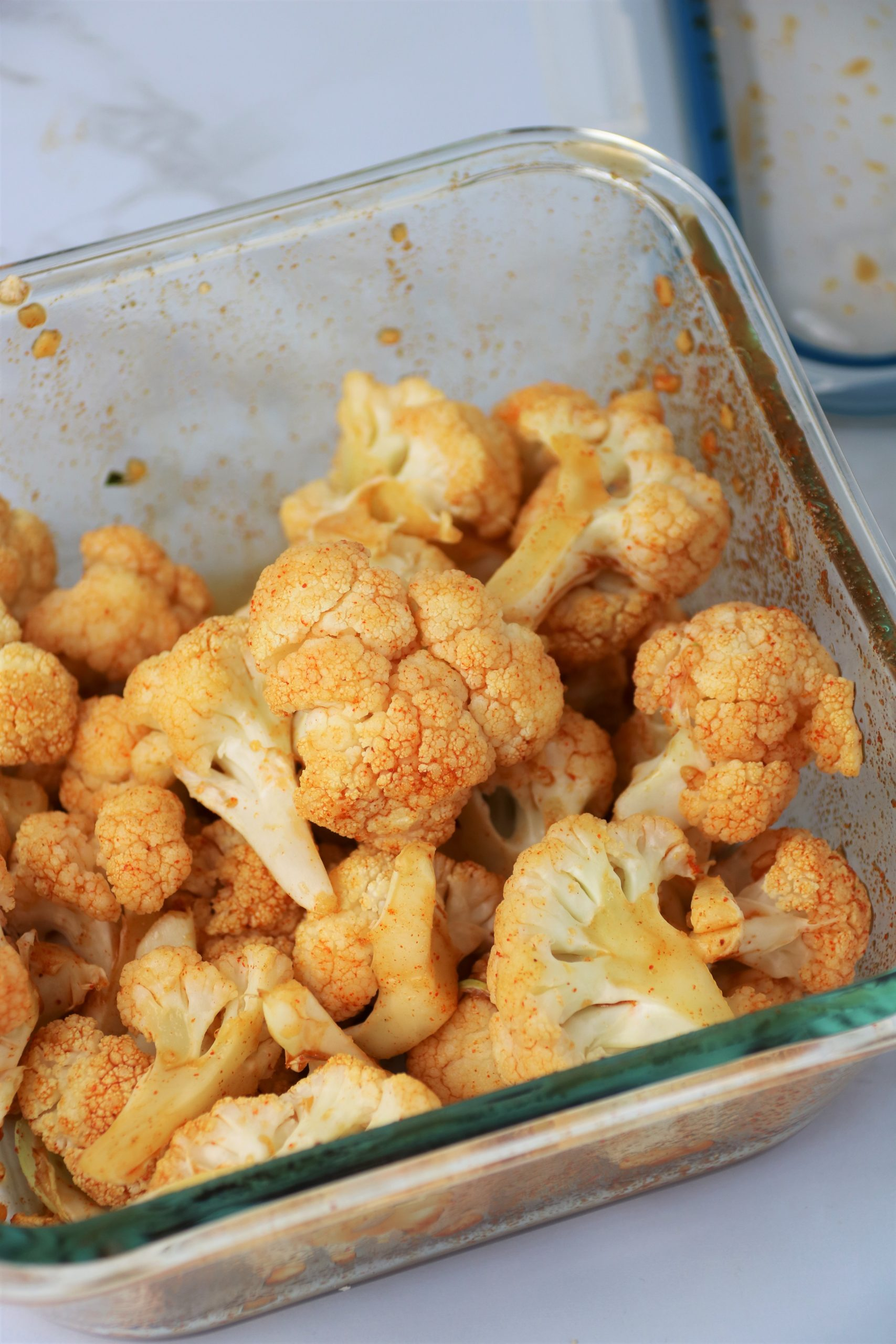 sweet and spicy cauliflower plant based