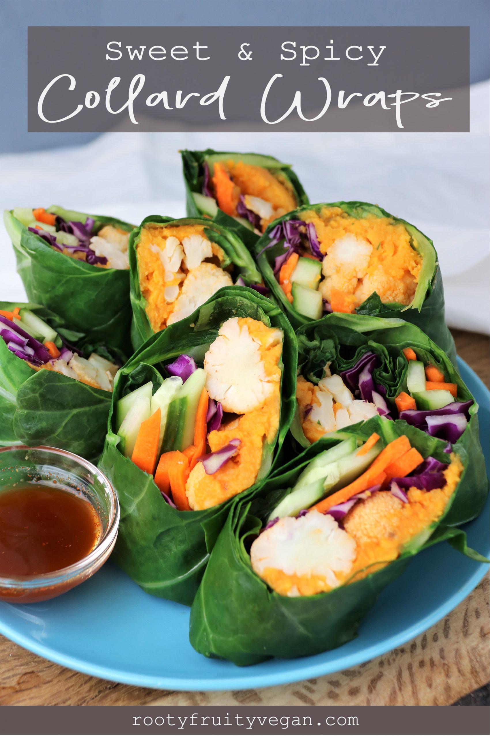 vegan collard wraps