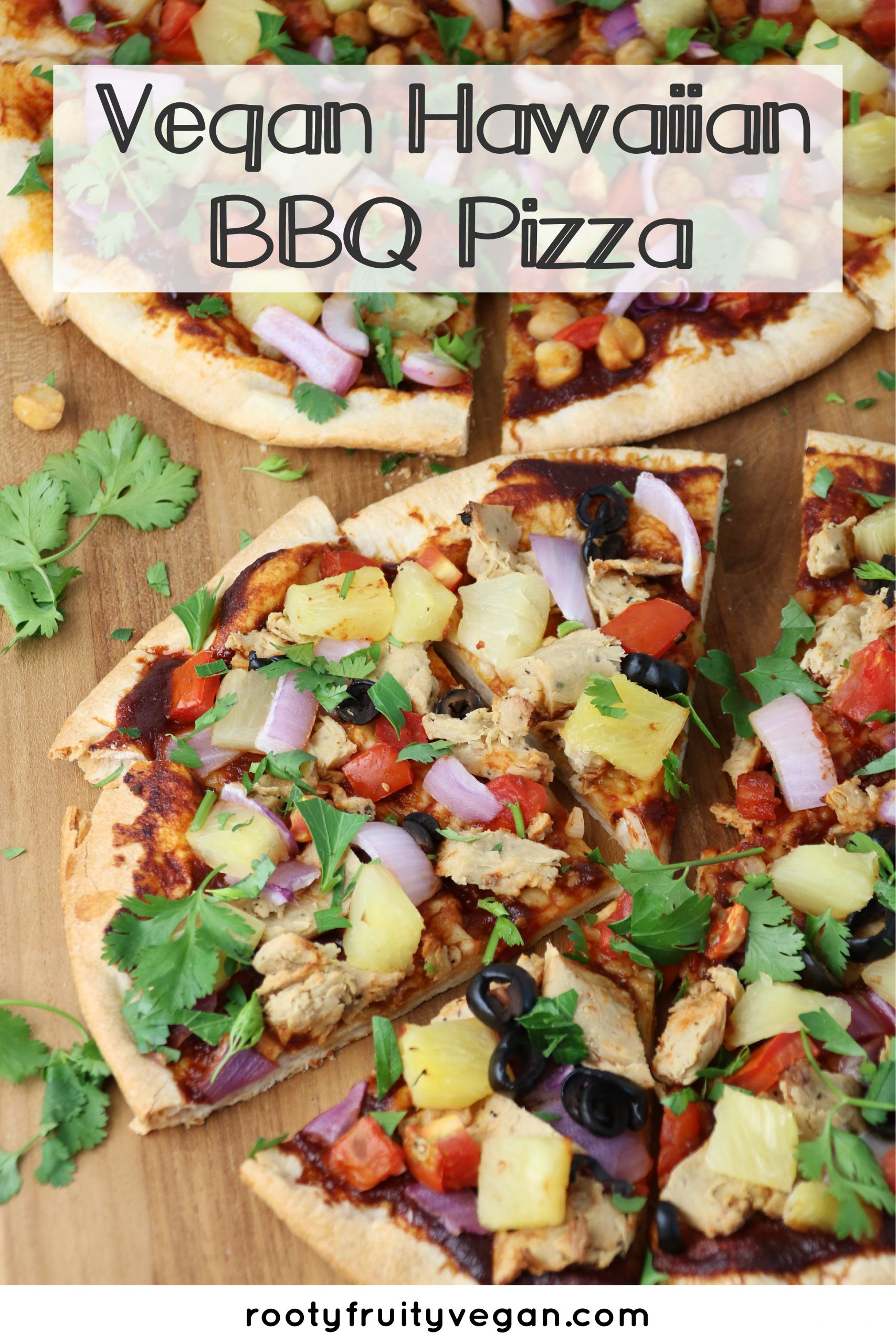 easy Vegan hawaiian bbq pizza recipe
