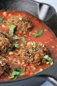 vegan gluten free eggplant meatball