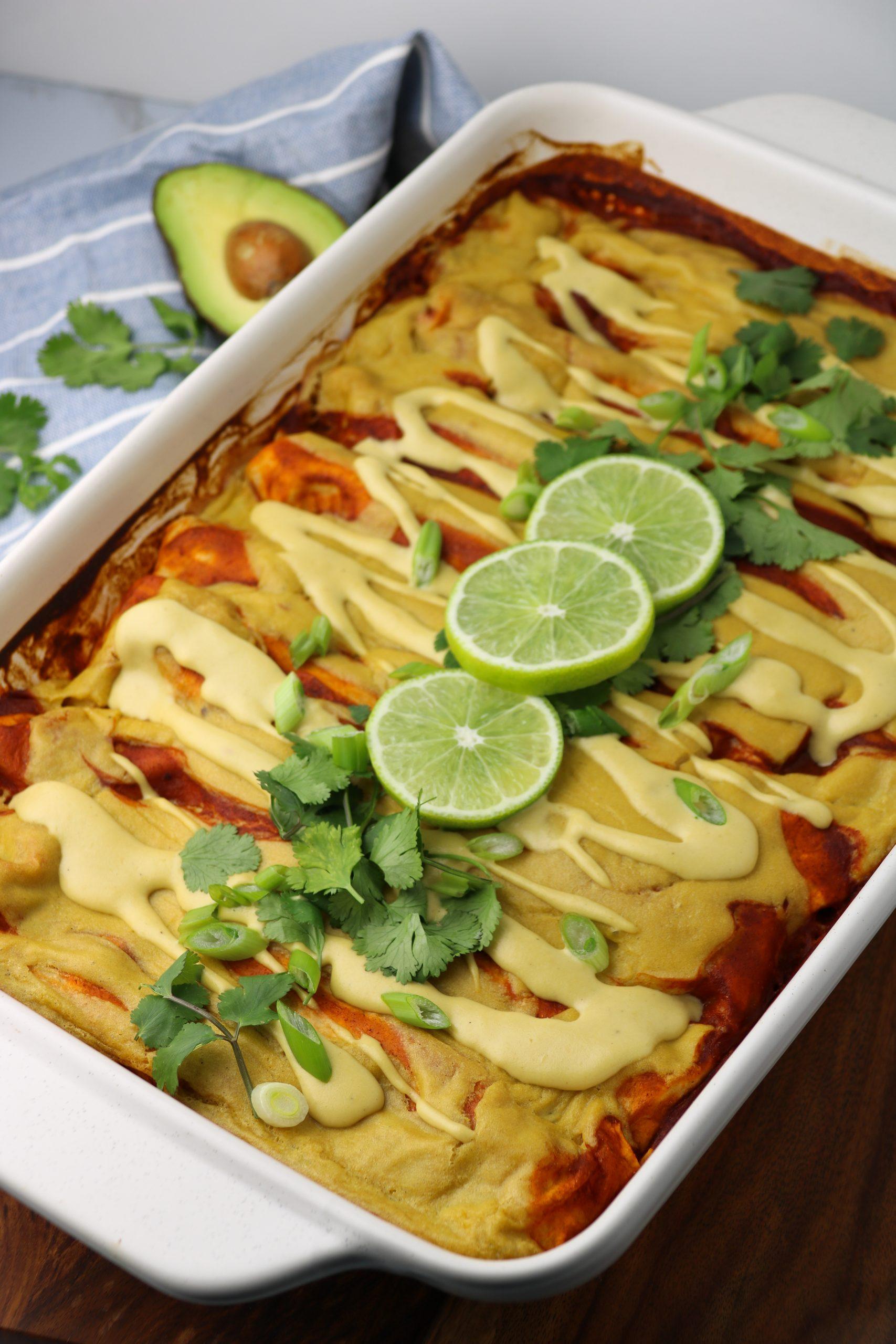 healthy vegan enchilada recipe
