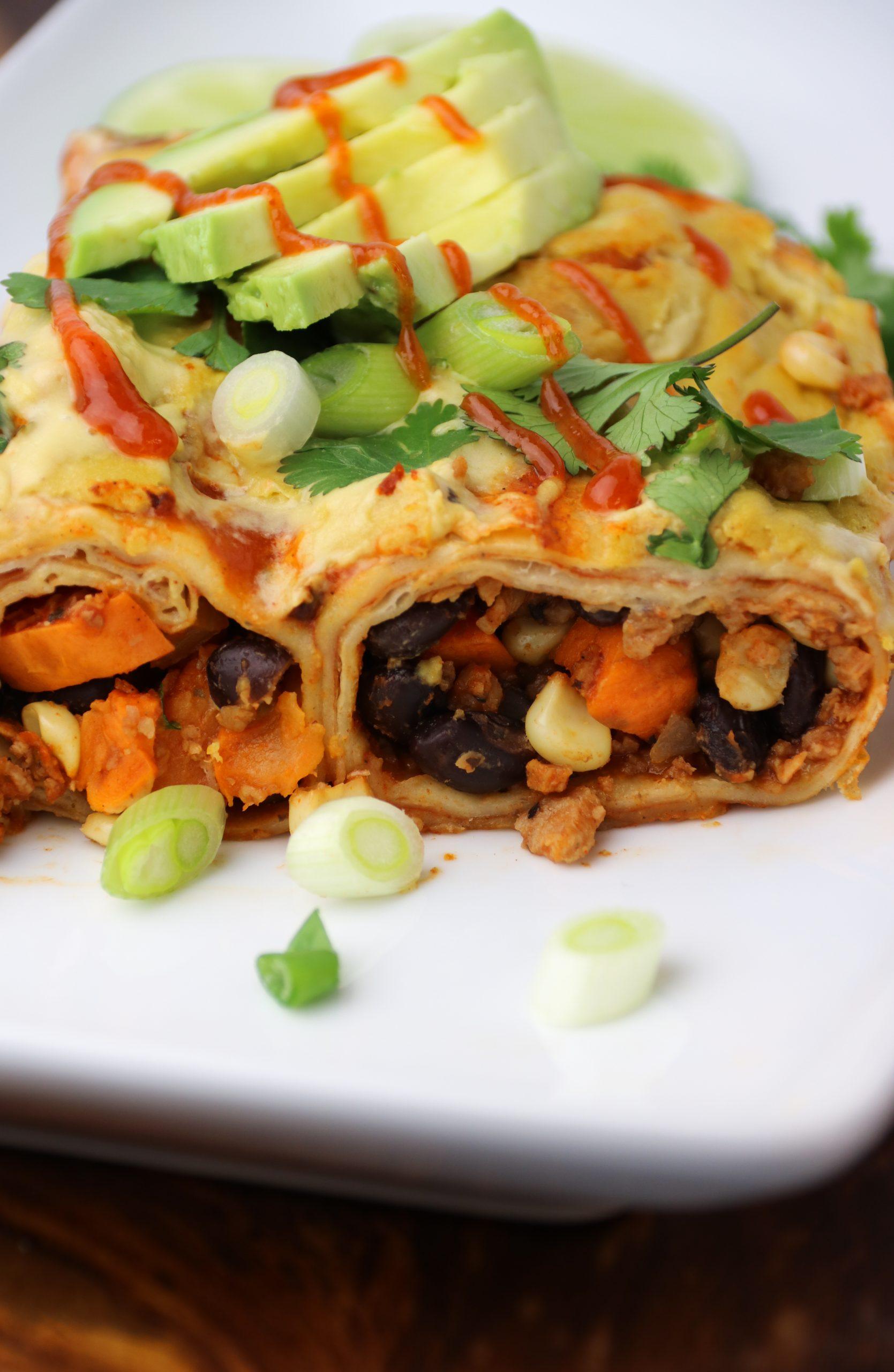vegan plant based enchilada recipe