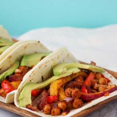 vegan fajita recipe chickpeas
