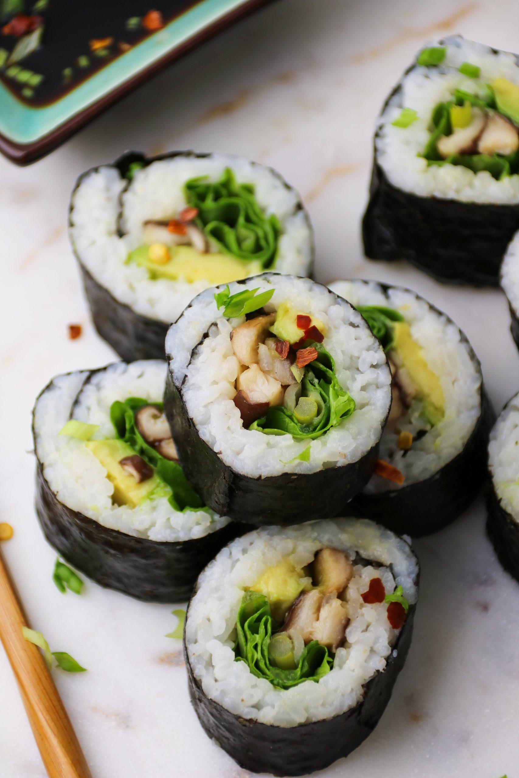 vegan shiitake mushroom sushi recipe